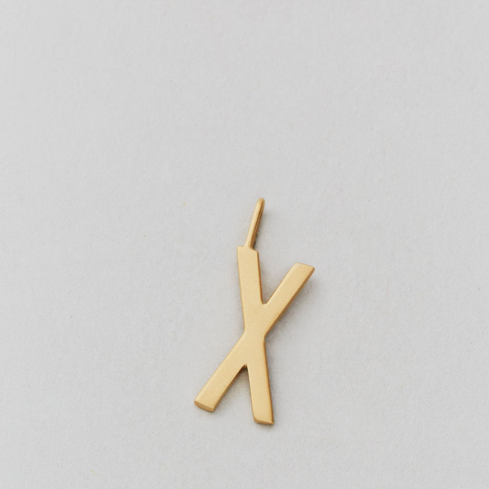 Letter Charm 16mm Gold