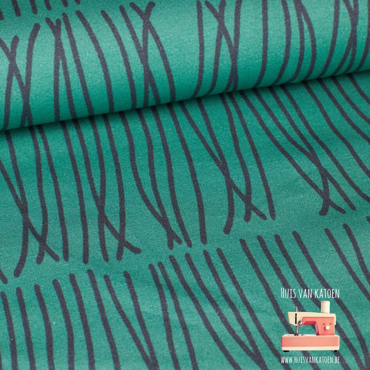 Eva Mouton French terry - Swirls