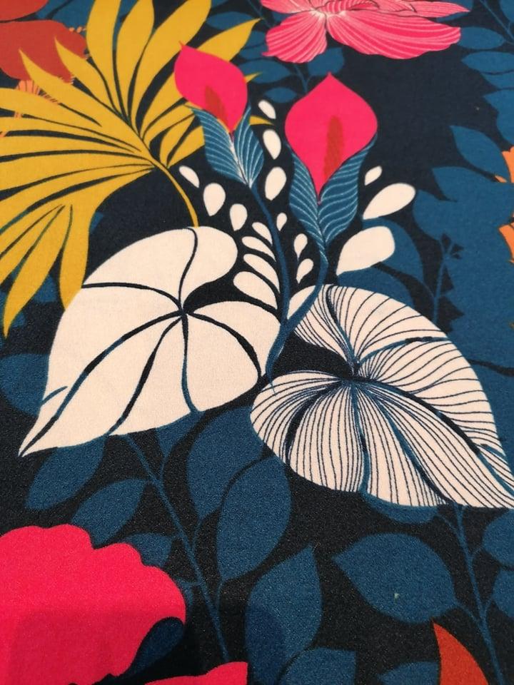 Scuba crepe - Flora