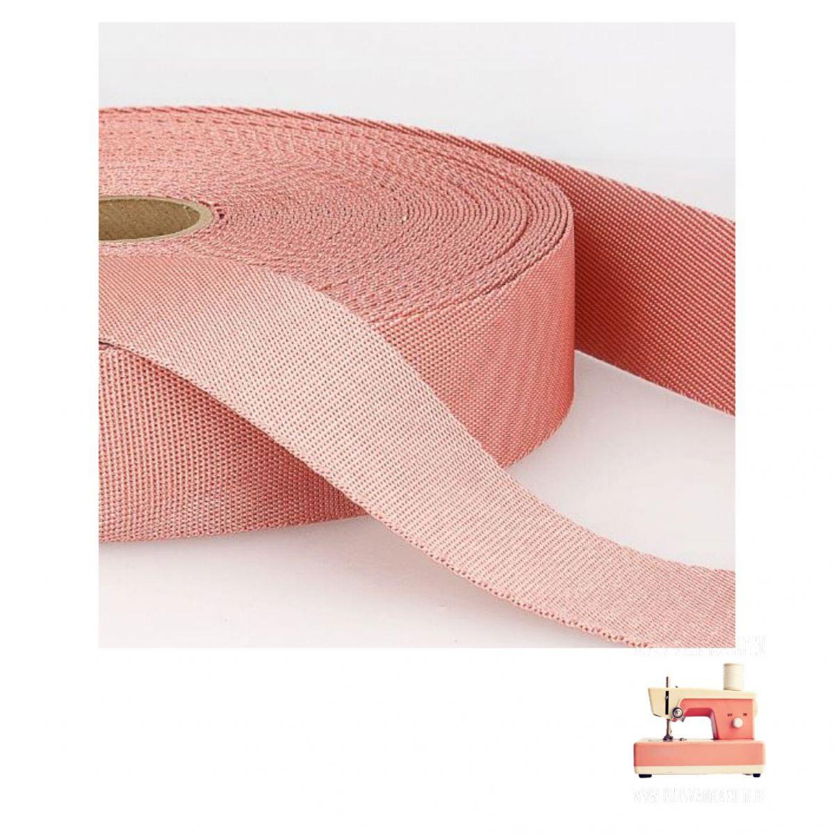 Tassenband 35 mm - Lichtroze