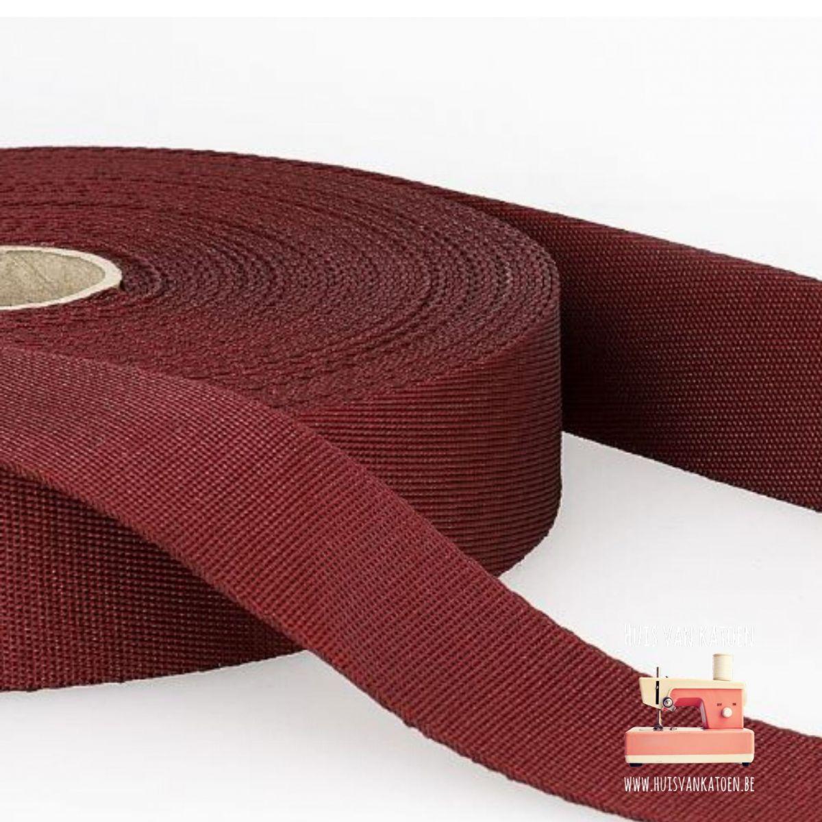 Tassenband 35 mm - bordeaux