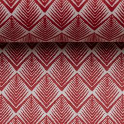 Gelamineerd katoen - Tandjes rood