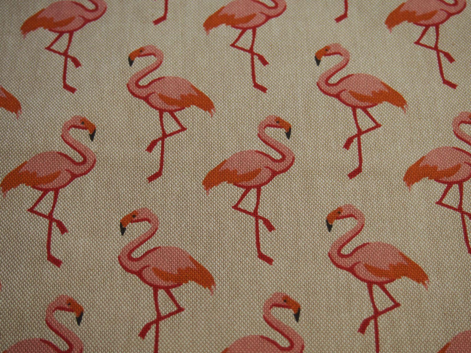 Flamingo In Huis : Linnenlook flamingo huis van katoen