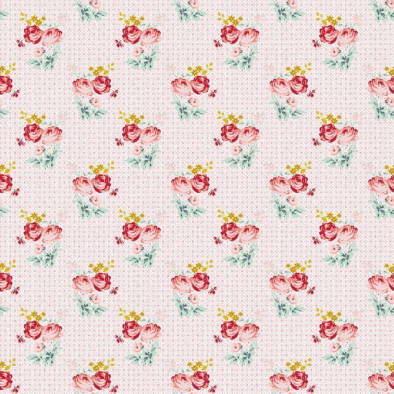 Katoen - Charming roses