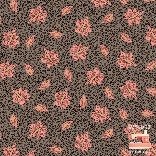 Woven - Taupe golden print