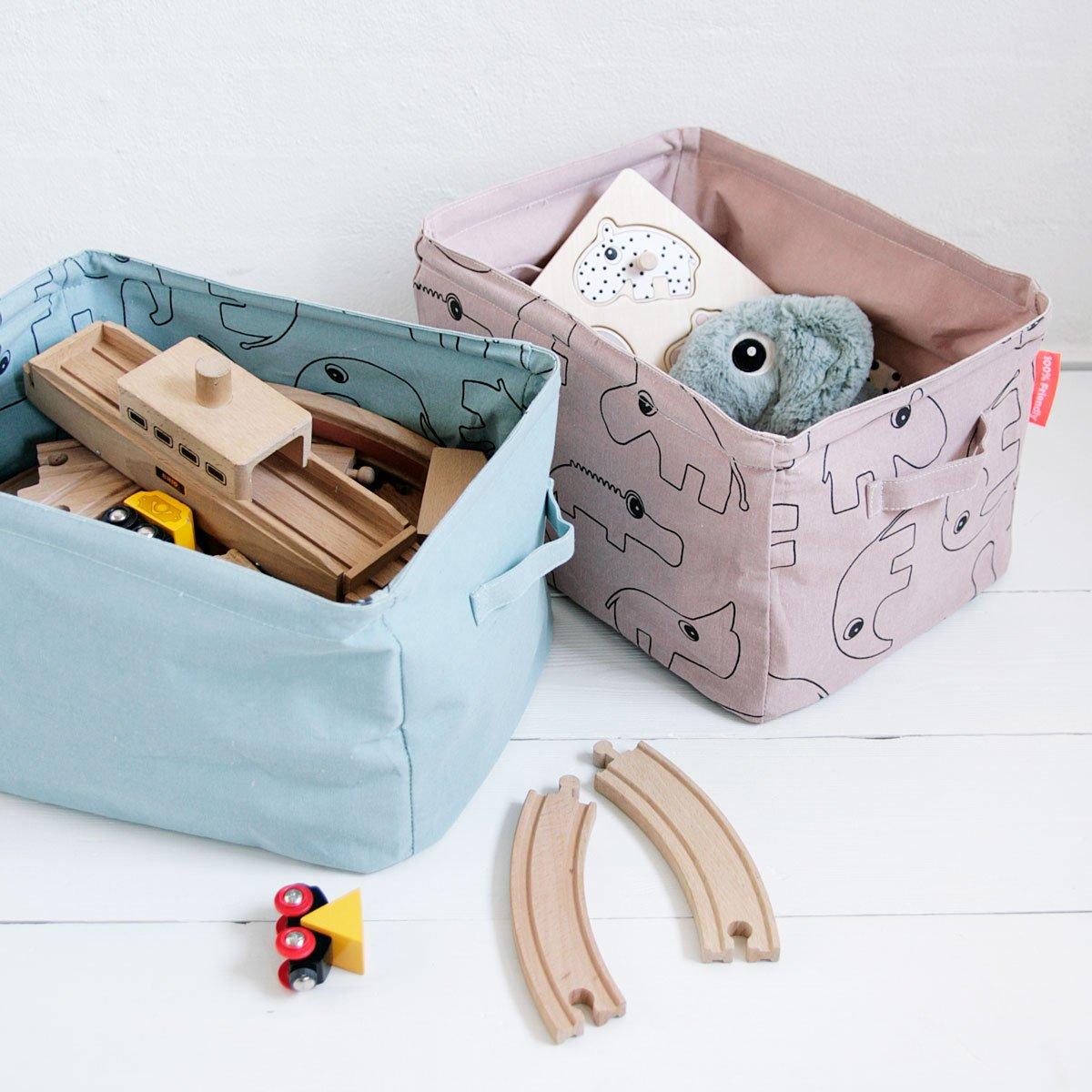 Soft storage basket, doublesided, powder