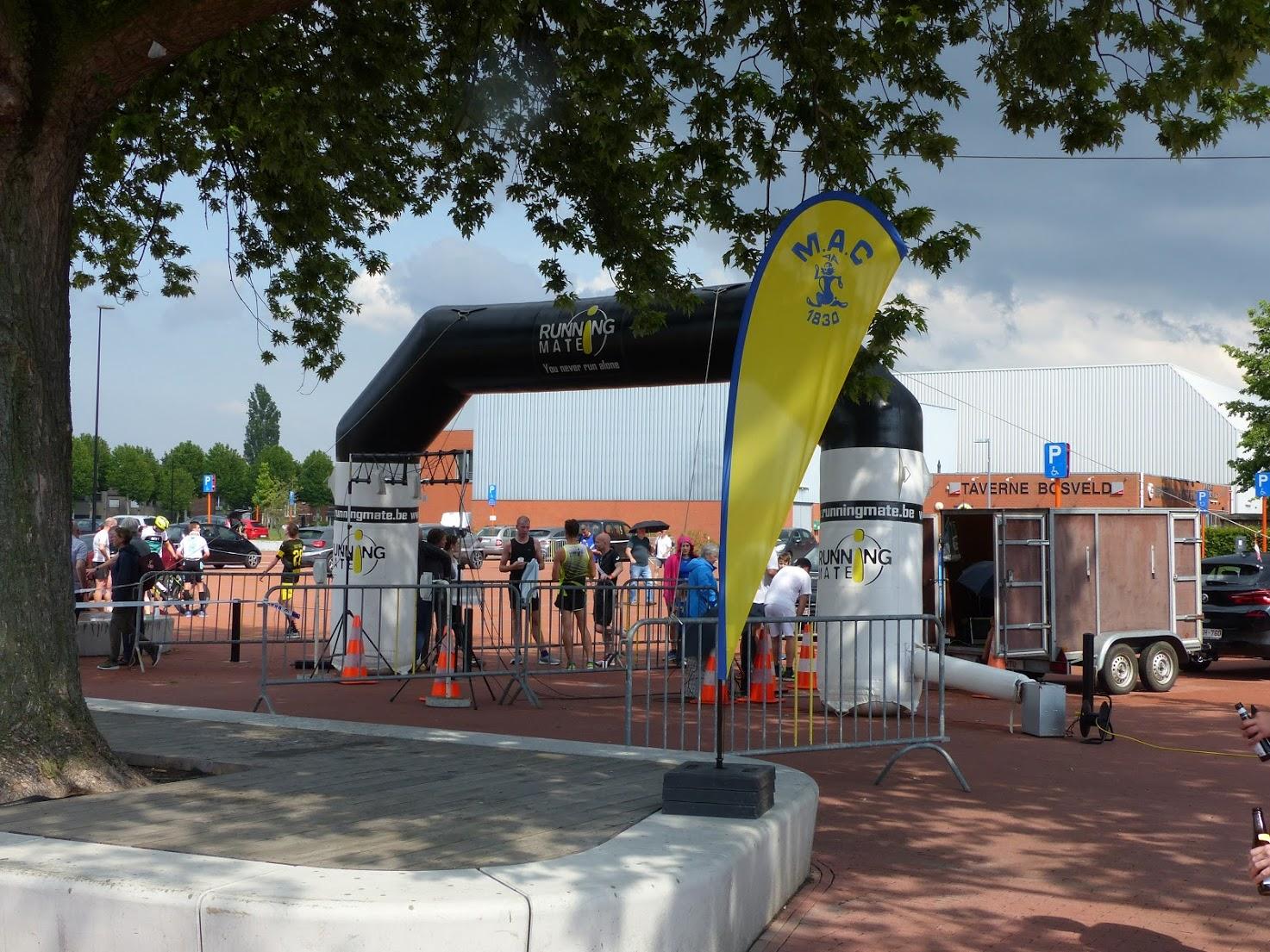 Onze startboog stond zaterdag j.l. opgesteld in Machelen